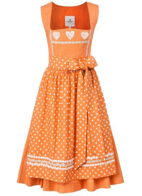 BW Dirndl orange dots