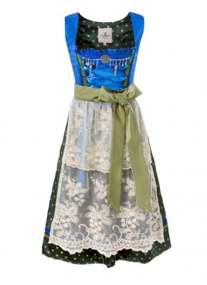 Silk Dirndl blue dots