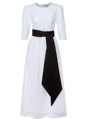 Janina Designer Brautdirndl black-white