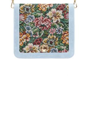 JAN&INA Trachten-BW Dirndl vintage flowers hellblau AOP Schürze