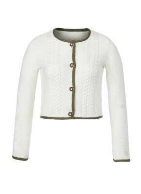 Strickjacke Traditional creme:oliv